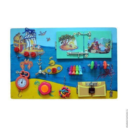 """Развивающие игрушки ручной работы. Ярмарка Мастеров - ручная работа. Купить Бизиборд """"Морской"""". Handmade. Комбинированный, развивающая игрушка, мышление"""