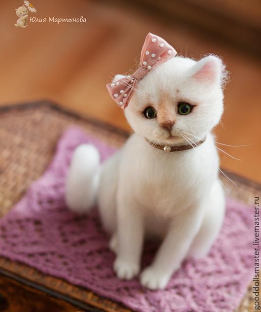 Валяние игрушек кошка