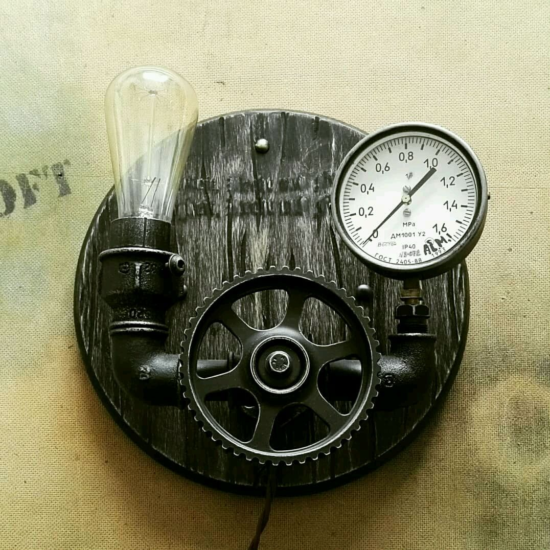 Настенный светильник в стиле Лофт, Настенные светильники, Минск,  Фото №1