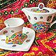 С чайной парой `Мозаика Гауди`