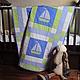 """Пледы и одеяла ручной работы. Ярмарка Мастеров - ручная работа. Купить Детское покрывало (одеяло, плед) """"Плыви, плыви, кораблик"""". Handmade."""