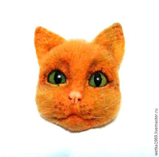 Броши ручной работы. Ярмарка Мастеров - ручная работа. Купить Брошь Рыжий кот. Handmade. Брошь, аксессуары ручной работы