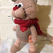 Мягкие игрушки ручной работы. Ярмарка Мастеров - ручная работа Мягкие игрушки: Влюблённый кот. Handmade.