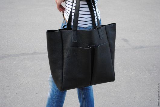 Женские сумки ручной работы. Ярмарка Мастеров - ручная работа. Купить Z013. Handmade. Черный, Кожаная сумка, натуральная кожа