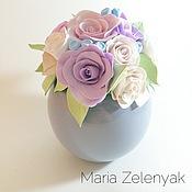 Цветы и флористика ручной работы. Ярмарка Мастеров - ручная работа Горшочек с цветами. Handmade.