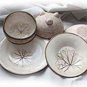 Посуда ручной работы. Ярмарка Мастеров - ручная работа Сервиз из 5 предметов. Handmade.