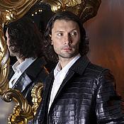 Одежда ручной работы. Ярмарка Мастеров - ручная работа Мужское пальто 007 из кожи  крокодила. Handmade.