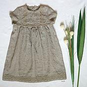 """Льняное платье для девочки """"АРИША"""""""