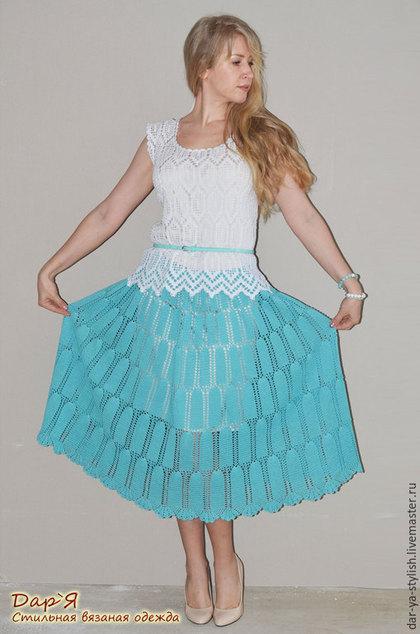 """Юбки ручной работы. Ярмарка Мастеров - ручная работа. Купить """"Зареслава"""" вязаная юбка. Handmade. Юбка, юбка длинная"""