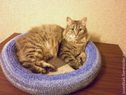 Аксессуары для кошек, ручной работы. Ярмарка Мастеров - ручная работа. Купить Лежанка для котика.. Handmade. Разноцветный, шерсть 100%