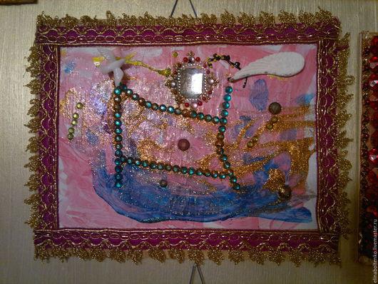 """Абстракция ручной работы. Ярмарка Мастеров - ручная работа. Купить Картина """"Королевство кривых зеркал"""". Handmade. Картина, панно"""