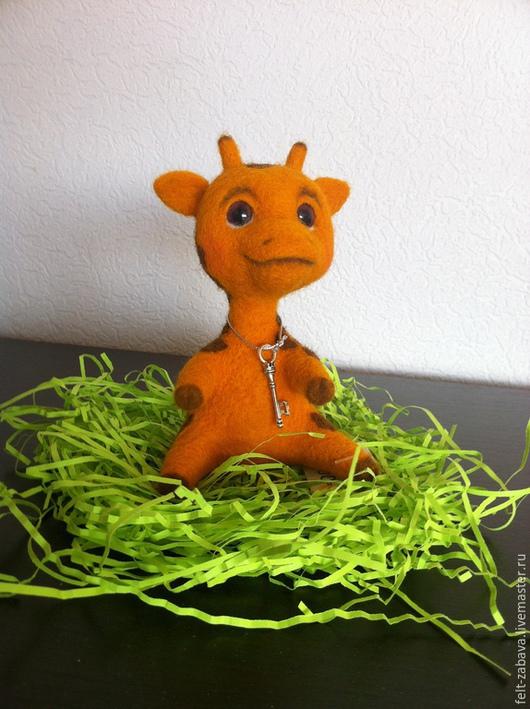 Игрушки животные, ручной работы. Ярмарка Мастеров - ручная работа. Купить Жирафик. Handmade. Желтый, единственный экземпляр