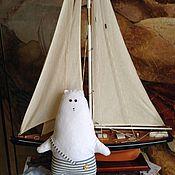 Куклы и игрушки ручной работы. Ярмарка Мастеров - ручная работа Ведь ты моряк! Мишка! 36см. Handmade.