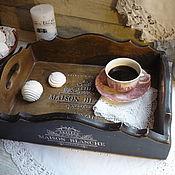 Подносы ручной работы. Ярмарка Мастеров - ручная работа Большой поднос из кедра ,France. Handmade.