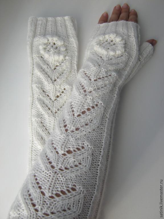 Fingerless long gloves Flower, Mitts, Kamyshin,  Фото №1
