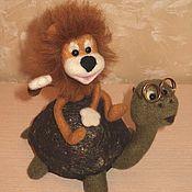 Куклы и игрушки ручной работы. Ярмарка Мастеров - ручная работа Как львенок и черепаха пели песню. Handmade.
