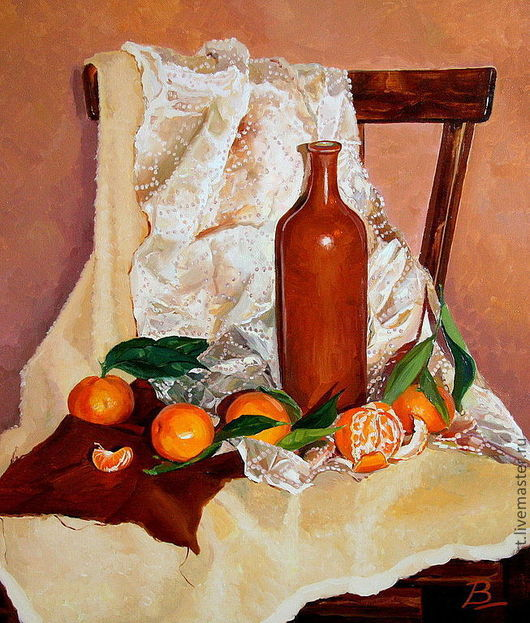 `Натюрморт с мандаринами.`