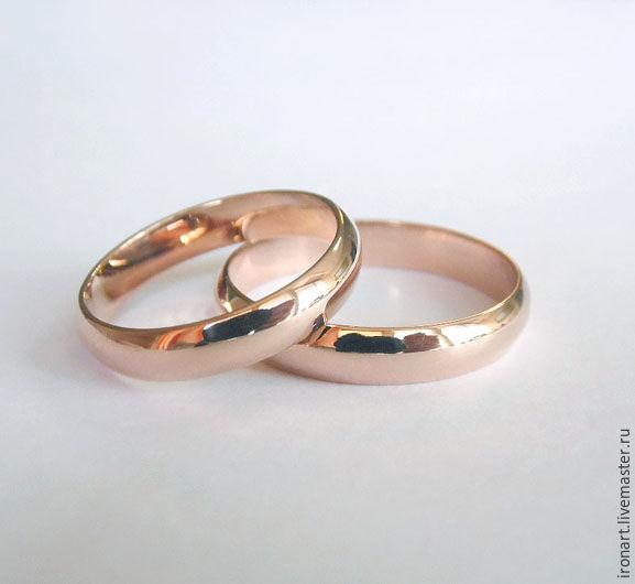 7570ef3451fe Свадебные украшения ручной работы. Ярмарка Мастеров - ручная работа. Купить  Классические обручальные кольца из ...