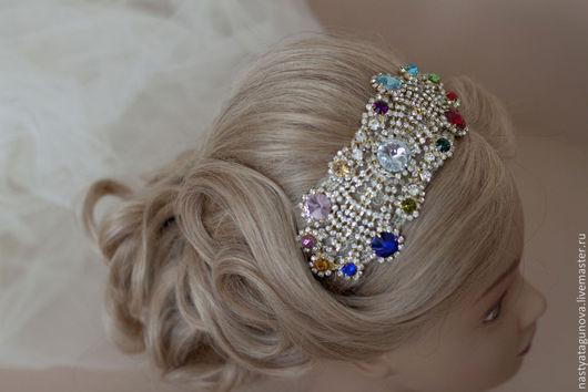 """Диадемы, обручи ручной работы. Ярмарка Мастеров - ручная работа. Купить """" Gatsby style """". Handmade. прическа невесты"""