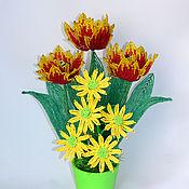 Цветы и флористика ручной работы. Ярмарка Мастеров - ручная работа Тюльпаны Весенние настроение. Handmade.