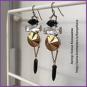 Украшения handmade. Livemaster - original item Earrings with rhinestones and spikes). Handmade.