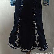 Одежда ручной работы. Ярмарка Мастеров - ручная работа Юбка годе большого размера, авторская юбка из шерсти, шёлка и войлока.. Handmade.