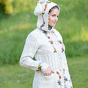 Одежда ручной работы. Ярмарка Мастеров - ручная работа Пальто вязаное 16wj14. Handmade.