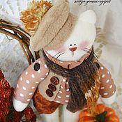 Куклы и игрушки ручной работы. Ярмарка Мастеров - ручная работа Котик в жилетке. Handmade.