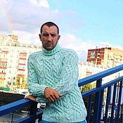 """""""Fishermen""""свитер мятный"""