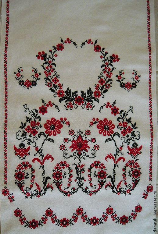 Свадебный рушник для каравая схема вышивки