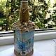 Персональные подарки ручной работы. Декор бутылки (море). Юлия Балашова. Ярмарка Мастеров. Бутылка декоративная, фотография