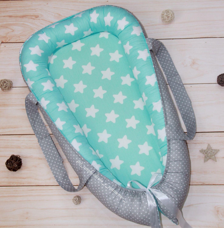 Nest for newborns with handles, Gift for newborn, Blagoveshchensk,  Фото №1