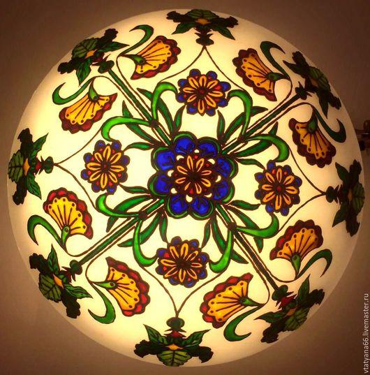 Освещение ручной работы. Ярмарка Мастеров - ручная работа. Купить Светильник с растительно-цветочным орнаментом Сказки Шервудского леса. Handmade.