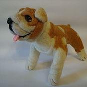 Куклы и игрушки handmade. Livemaster - original item Bulldog Athena. The toy is made of wool. Handmade.