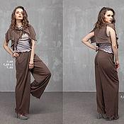 Одежда handmade. Livemaster - original item п_002 pants with straight-cut pockets. Handmade.