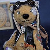 Куклы и игрушки ручной работы. Ярмарка Мастеров - ручная работа Стимпанк мишка тедди Teddy bear Aviator. Handmade.