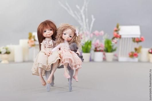 Коллекционные куклы ручной работы. Ярмарка Мастеров - ручная работа. Купить Моя сестренка. Handmade. Бежевый, кукла, мишка, зеленый