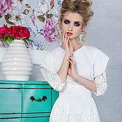 Одежда ручной работы. Ярмарка Мастеров - ручная работа Белое длинное платье№ 9. Handmade.