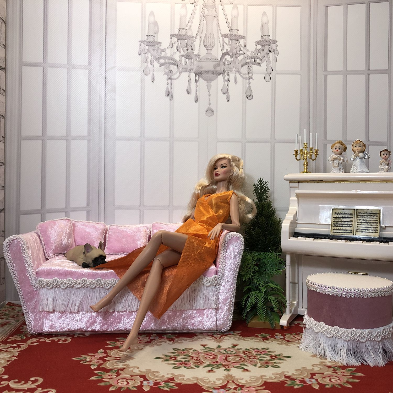 Диван и пуфик, Мебель для кукол, Краснодар,  Фото №1