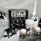 """Свадебный салон ручной работы. Ярмарка Мастеров - ручная работа Свадебный набор"""" Мафия"""" Свадьба в стиле Ганстеров. Handmade."""