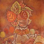 Картины и панно ручной работы. Ярмарка Мастеров - ручная работа Заглянула Осень в городок. Осенняя картина фэнтези. Handmade.
