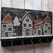 Для дома и интерьера handmade. Livemaster - original item The housekeeper wall: Housekeeper Night city 9. Wall housekeeper.. Handmade.