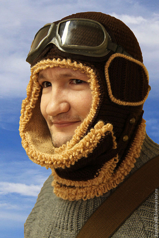 Для мужчин, ручной работы. Ярмарка Мастеров - ручная работа. Купить Шапка -  шлем лётчика Первым делом самолёты. Handmade.