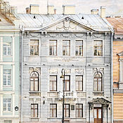 Картины и панно handmade. Livemaster - original item Photo pictures of the city in pastel colours and view of St. Petersburg