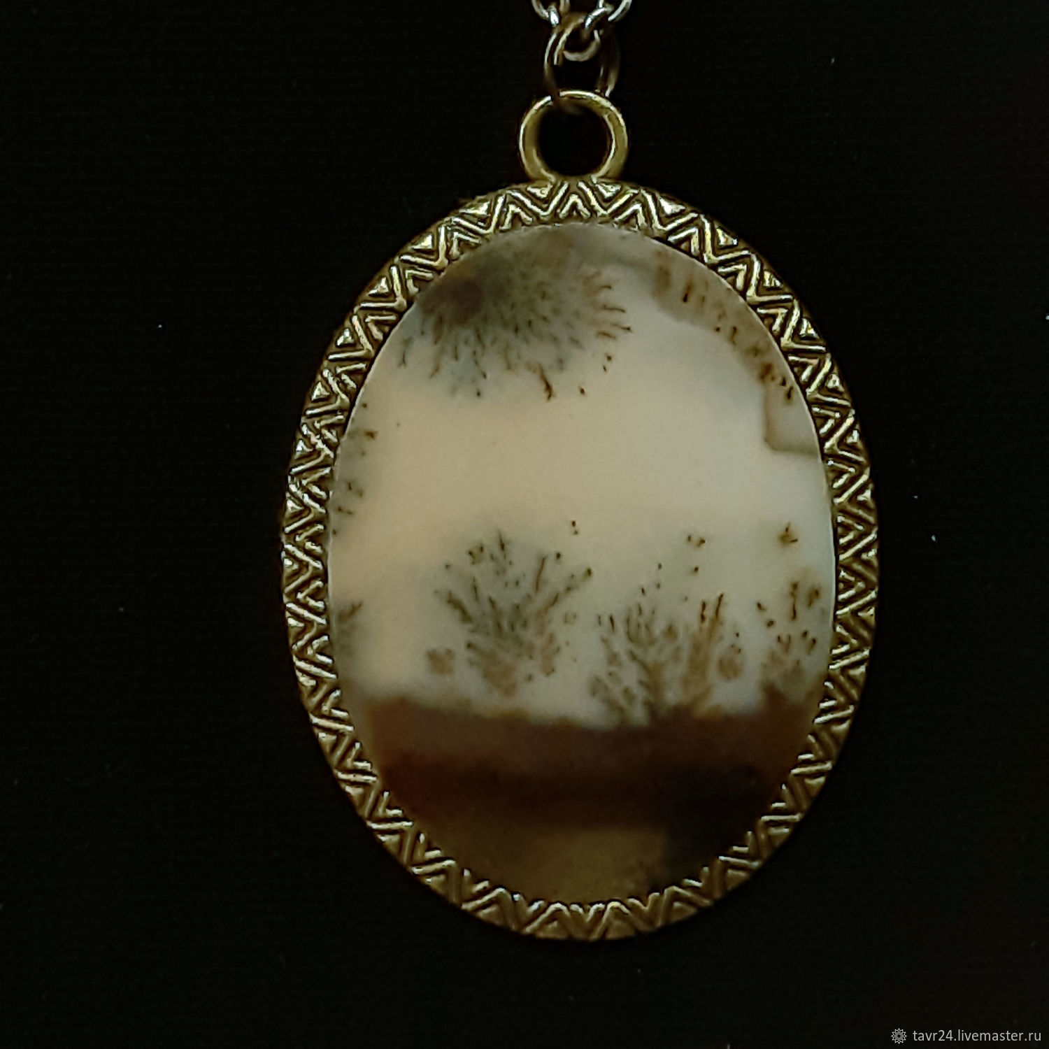 pendant No. 58. Chalcedony, an agate, agate Moholy, Pendant, St. Petersburg,  Фото №1