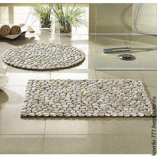 Каменные коврики в интерьере