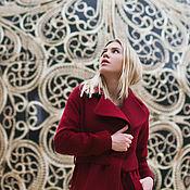 Одежда ручной работы. Ярмарка Мастеров - ручная работа Пальто халат бордовое. Handmade.