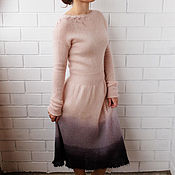 Одежда ручной работы. Ярмарка Мастеров - ручная работа Платье розовое с серым. Handmade.