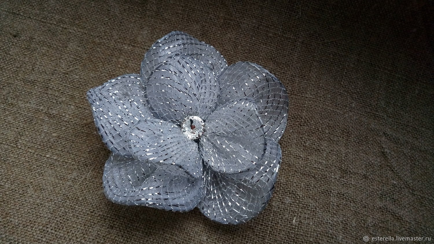 Silver brooch ' Exquisite flower', Brooch-clip, Moscow,  Фото №1