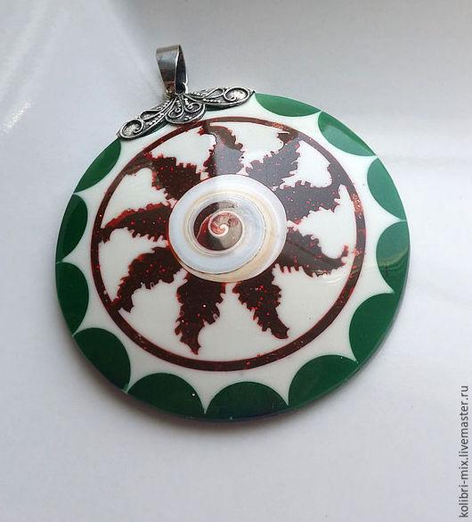 Для украшений ручной работы. Ярмарка Мастеров - ручная работа. Купить крупный кулон серебро 925    5.3 х 5.5 см. Handmade.
